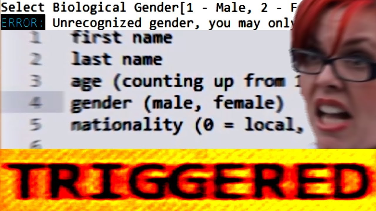 there are only 2 genders making my own game 2 youtube