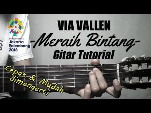 (Gitar Tutorial) Via Vallen - Meraih Bintang |Cepat & Mudah dimengerti untuk pemula