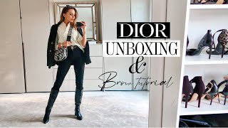 DIOR HANDBAG UNBOXING & Brow Tutorial!