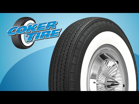 Bias Look American Classic Wide Whitewall Radial Tires On A 1955 Chevrolet