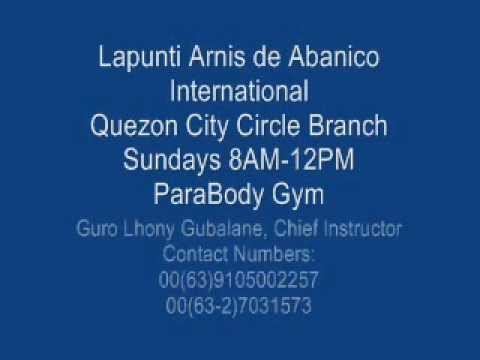 Lapunti Arnis de Abanico International-Asterisk Strike.wmv