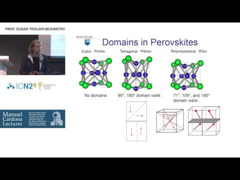 ICN2 Lecture Prof. Susan Trolier‐McKinstry: Piezoelectric Films for Microelectromechanical Systems
