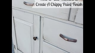 Using Vaseline To Create A Chippy Paint Finish