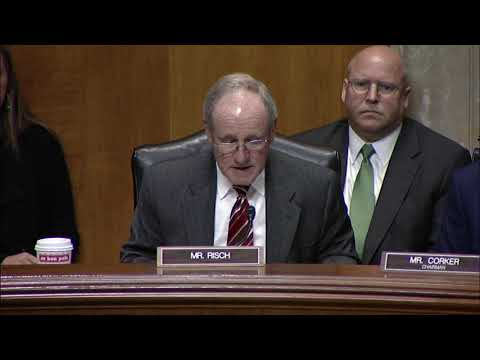 Senator Risch Speaks at Foreign Relations Committee Hearing on Treaties