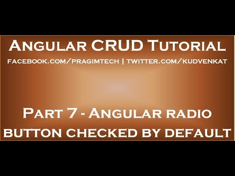 Angular radio button checked by default