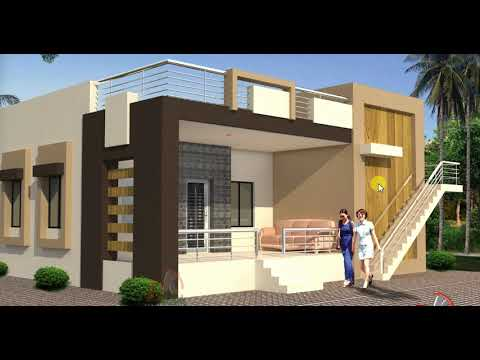 WITH SIMPLE ELEVATION SMALL HOUSE PLAN