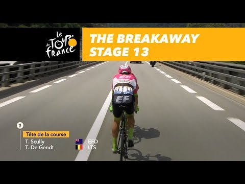 The breakaway  Stage 13  Tour de France 2018