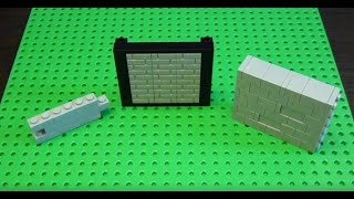 Lego Building Technique: Textured Walls