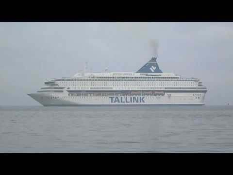 foggy day at port of Tallinn (time lapse)