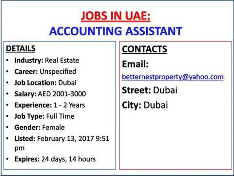 Accounting Assistant Jobs In Uae  Youtube