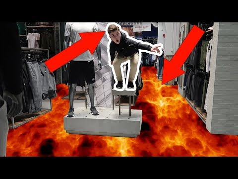 FLOOR IS LAVA CHALLENGE AT THE MALL!