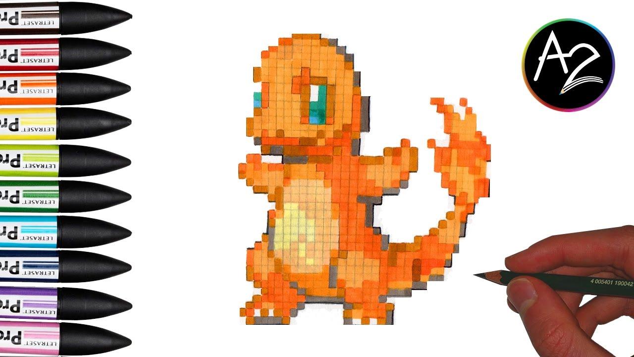 Pixel Art Pokémon Salaméche Charmender