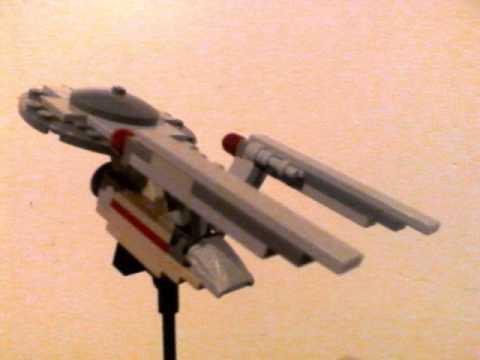 Moc Lego Mini Spaceship Uss Enterprise Youtube