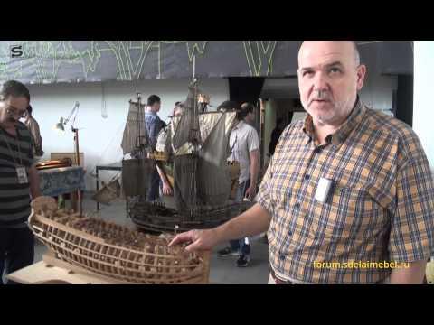 Смотреть Модели кораблей из дерева судомоделирование. Ship model