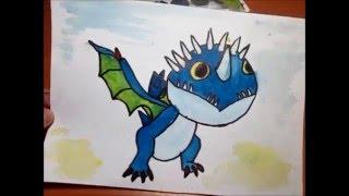 Как нарисовать дракона? / How to draw a dragon?(В этом я видео я рисую и рассказываю как нарисовать дракона из мультфильма «Как приручить дракона». Это..., 2016-01-19T16:32:56.000Z)