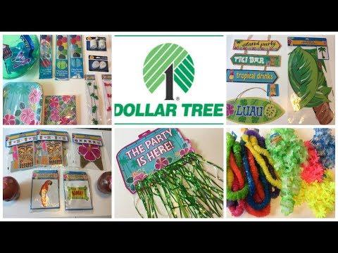 DOLLAR TREE HAUL   Luau 2017