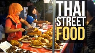 Street food in Thailand. My dinner today 2. Sooo much good food in one place!!! (Thailand, Songkhla)
