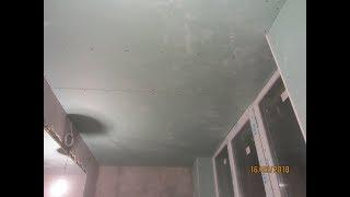 Как смонтировать потолок, если его  нужно опустить на минимальную высоту в лоджии