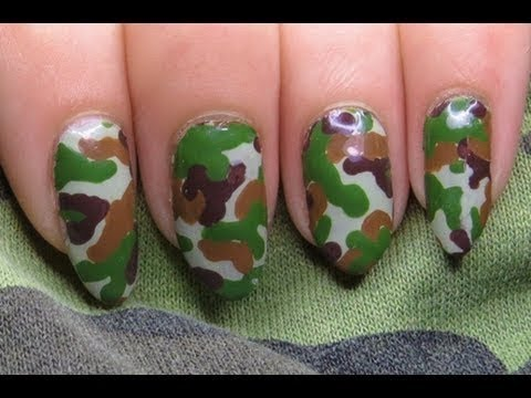 Quick Easy Camouflage Diy Nail Art Sticker Tutorial
