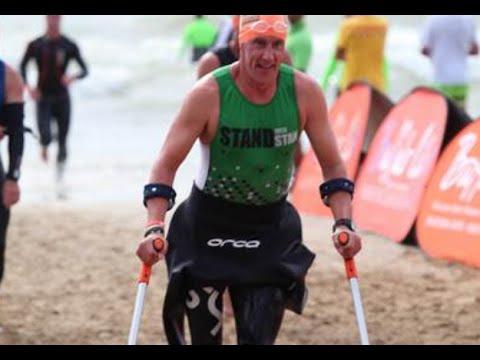 Amputee Stan Andrews takes on Cape Town triathlon