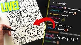 YOU Choose what I DRAW !! \\ Live Doodling Stream // Shrimpy