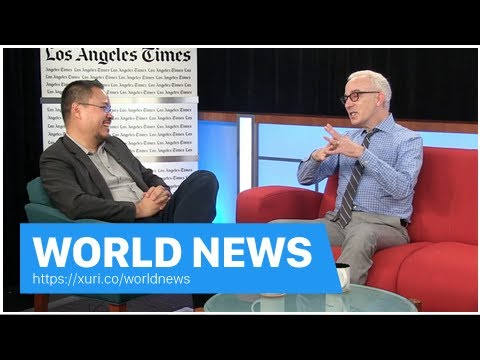 World News - President Trump turned cable news on must see TV in the year 2017-LA Times
