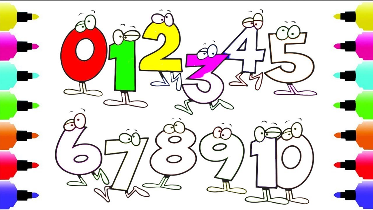 Number With Emotion Coloring Pages - Art Class Learn Color Old ...