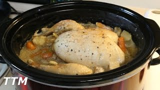 Whole Chicken Dinner in the Crock Pot Slow Cooker