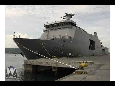 BRP Davao Del Sur and BRP Gregoryo Del Pilar docks in Davao City