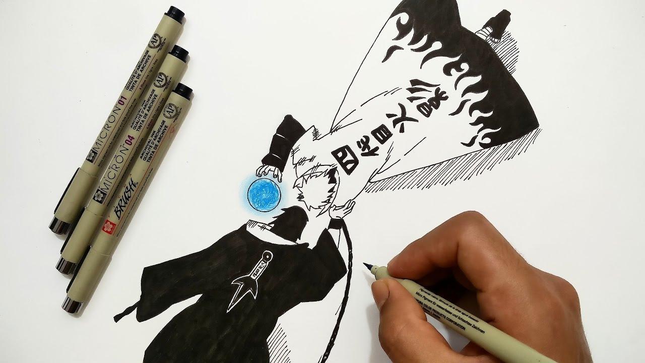 Drawing Minato vs Maskedman - Naruto - YouTube