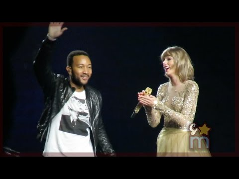 "Taylor Swift & John Legend – ""All of Me"" Clip at Staples Center"