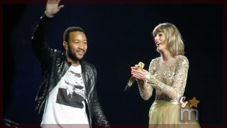 "Taylor Swift & John Legend - ""All of Me"" Clip at Staples Center"