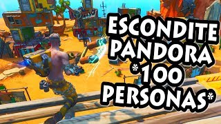 JUGANDO AL ESCONDITE en PANDORA *100 PERSONAS* FORTNITE PERSONALIZADAS