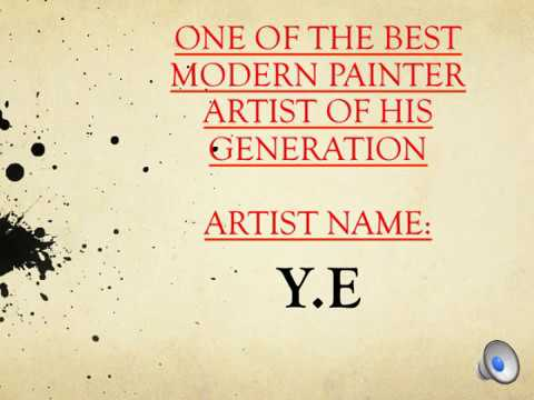BEST ARTIST PAINTER : Y.E - LOVED BY THE RICH AND FAMOUS- BELOW WEBSITE LINK OF HIS GALLERY