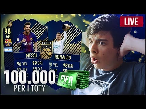 100.000 FIFA POINTS + 2 MILIONI IN PACK REGALO PER I TOTY! - FIFA 18 LIVE