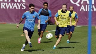 Final training session ahead of the game against Celta