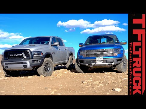 2015 ram 1500 rebel vs ford f 150 raptor off road rocky mountain matchup review