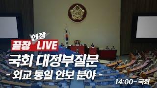 [풀영상] 국회 대정부질문 - 외교·통일·안보 분야