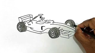 How to Draw a Formula 1 Car