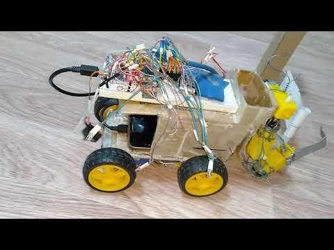 5Часть  Arduino nano 4 мотора L298N robot рука, 4колес автомобиль скетч своими руками Bluetooth HC06