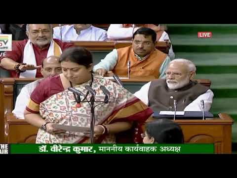 Smriti Irani receives longest applause from PM, others while taking oath as Lok Sabha member