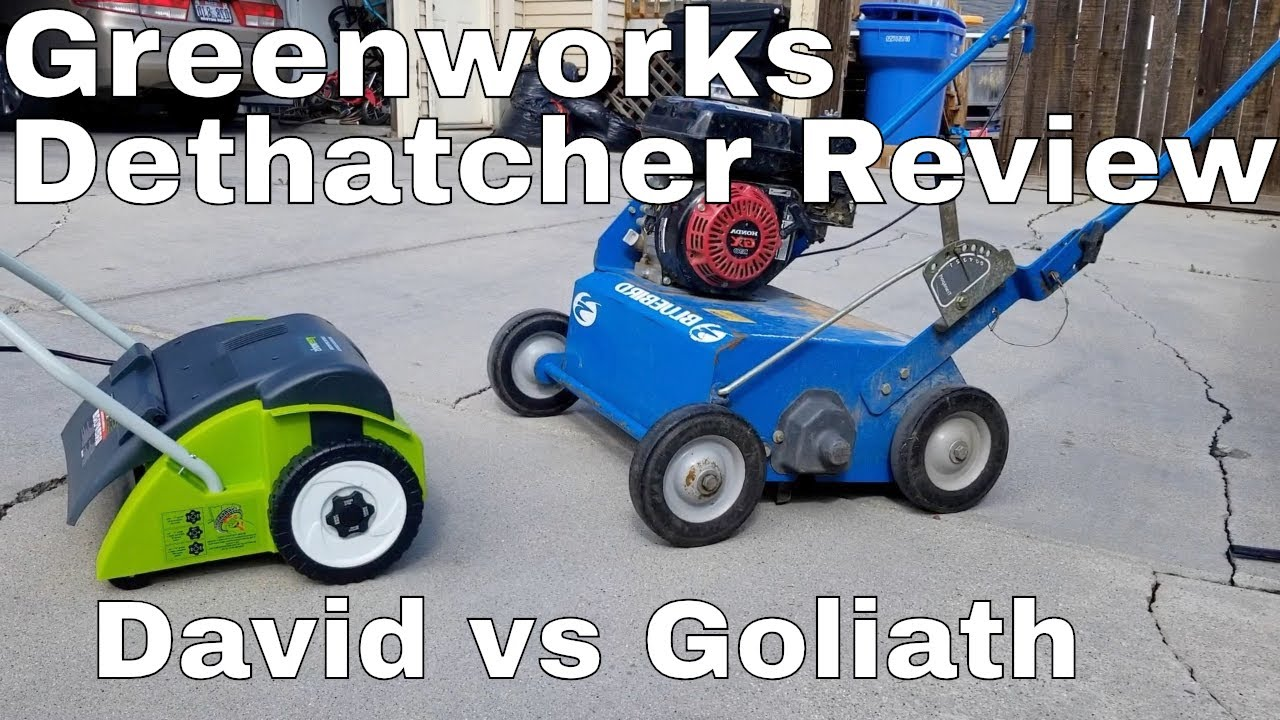 Greenworks 14 Inch Dethatcher Review Vs Bluebird Rake