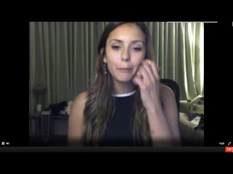Nina Dobrev live from the set of TVD FULL STAGEIT 2014