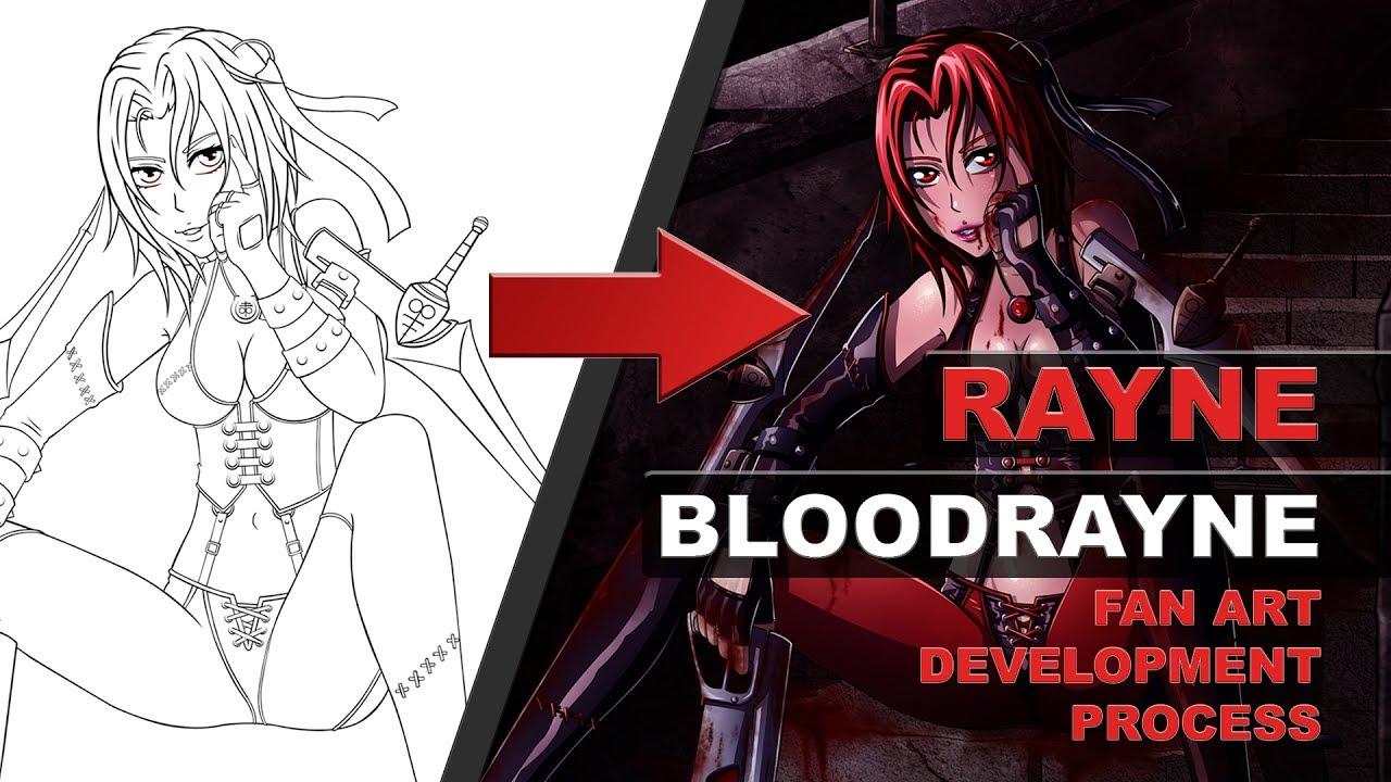 Rayne From Bloodrayne Fan Art Development Video Youtube