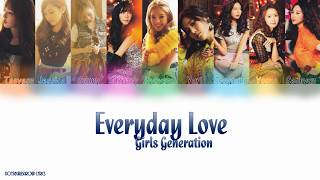 Cover images Girls' Generation (少女時代) – Everyday Love Colour Coded Lyrics(KAN|ROM|ENG)