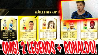 OMG! 2 LEGENDS + RONALDO & BEST FIFA 17 FUT DRAFT PACK EVER!! - ULTIMATE TEAM TO GLORY (DEUTSCH)