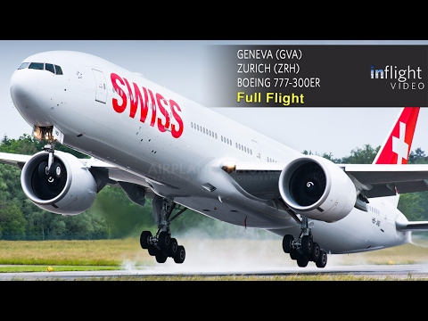 Swiss Full Flight: Geneva to Zurich - Boeing 777-300ER (with ATC)