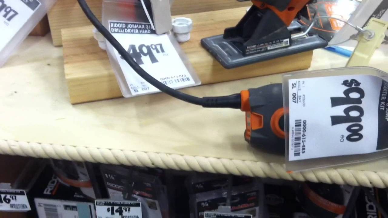 Ryobi / Ridgid JobPlus JobMax tool head attachment and removal