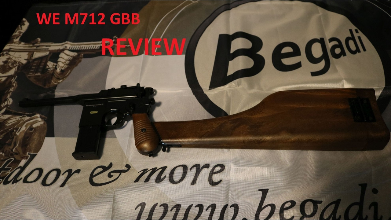 WE M712 GBB Version mit Schaft