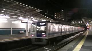 西武鉄道6000系 上り回送 西所沢通過